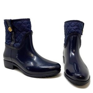 Tommy Hilfiger Quilted Short Rain Boots Navy Blue